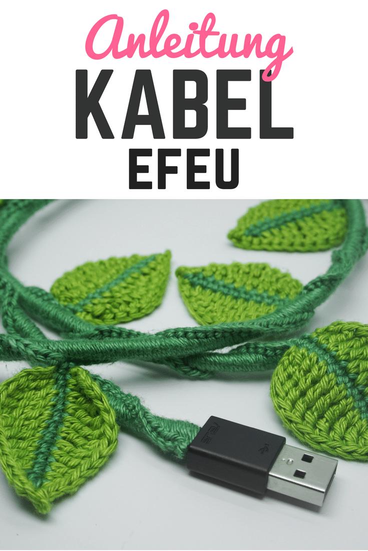 Kabel umhäkeln – Kabel Efeu via @https://web.facebook.com ...