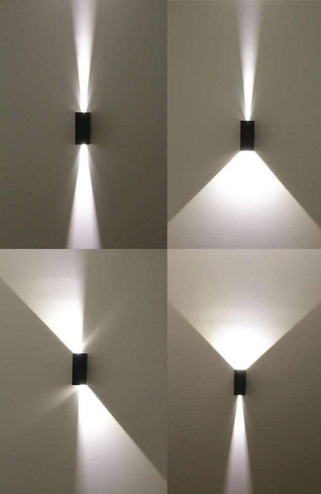 Effet Lumiere Lampe Murale Largeur 5 2 X 3 W Led Faisceau Angle 0 A 90 Degres Gris Fonce Parement Mural Lampe Murale Eclairage Exterieur