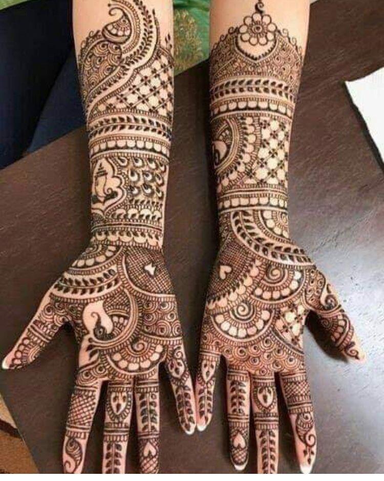 stylish full hand mehndi design for kids