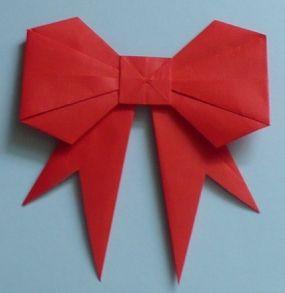 Paper Bow Tutorial Nœuds En Papier Origami Origami Noel