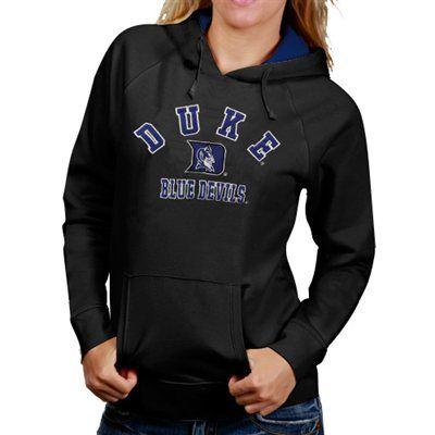 Duke Blue Devils Womens Arch Mascot Logo Pullover Hoodie - Charcoal