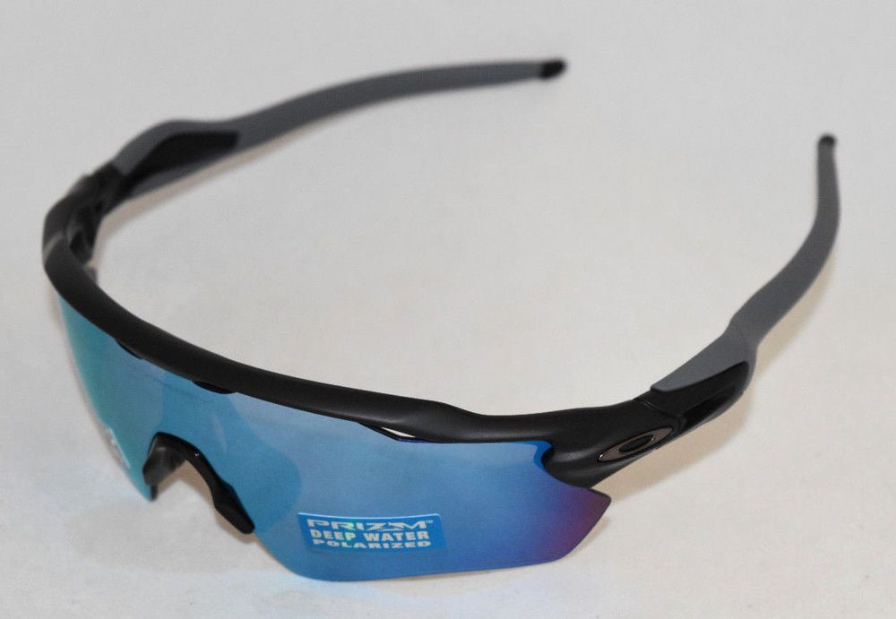 8d879ae630 eBay  Sponsored NEW OAKLEY RADAR EV PATH OO9208-5538 BLACK W  PRIZM DEEP  H2O POLARIZED LENS