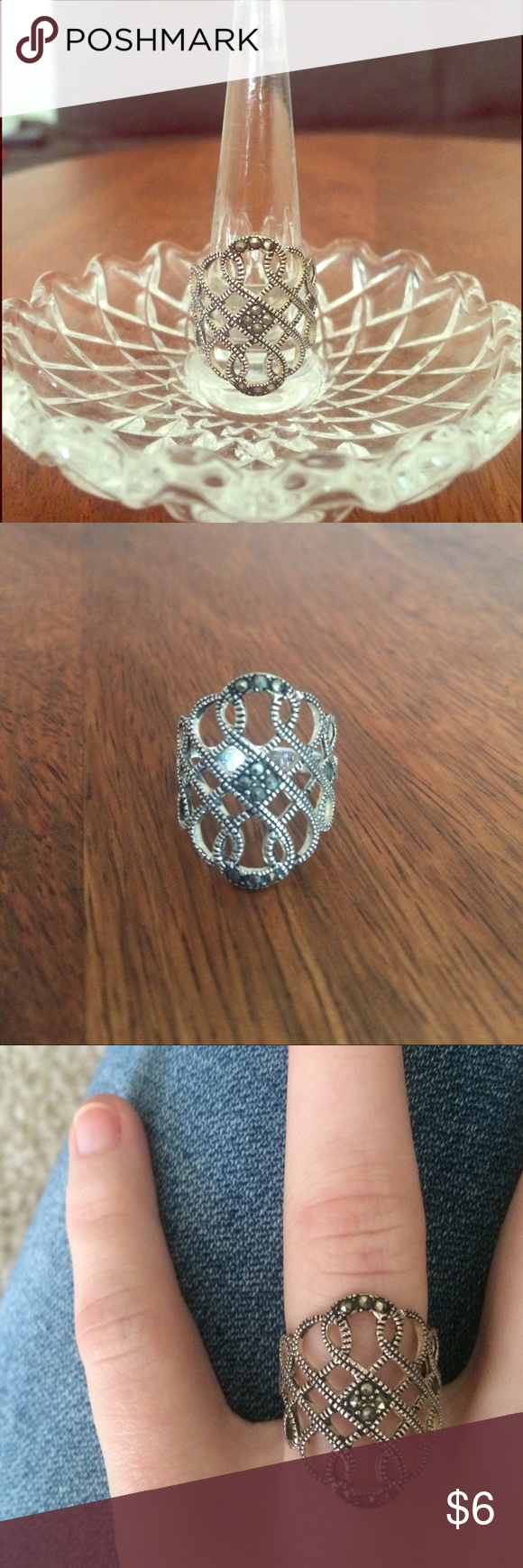 American Eagle Scroll Ring American Eagle Scroll Ring in size 7. American Eagle Outfitters Jewelry Rings