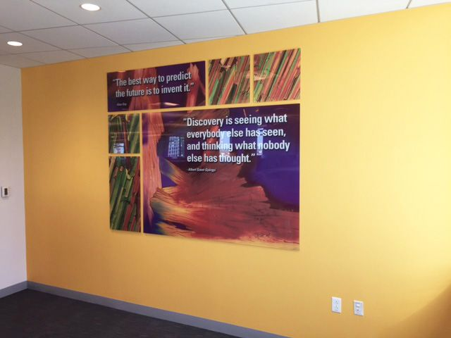 Plexiglass mounted custom art with inspirational quotes printed and ...