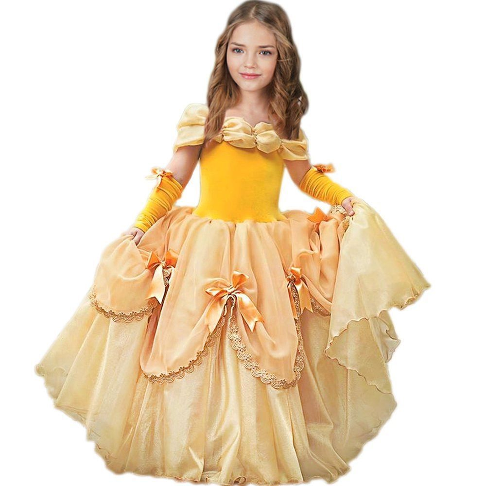 CQDY Belle Princess Dress Costume Sleeveless Party Christmas