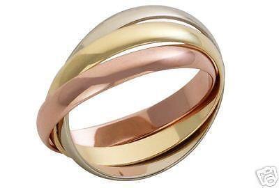 3mm 9ct Multi Tone 3 Colour Gold Russian Wedding Ring 2 At Elma Uk Jewellery