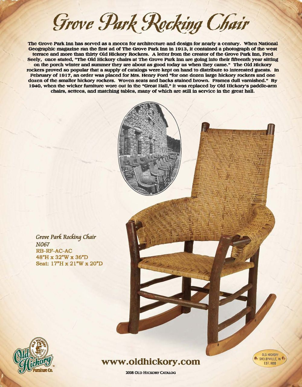 Old Hickory Furniture Co. Grove Park Rocking Chair. Available At  Www.ladesignportfolio.