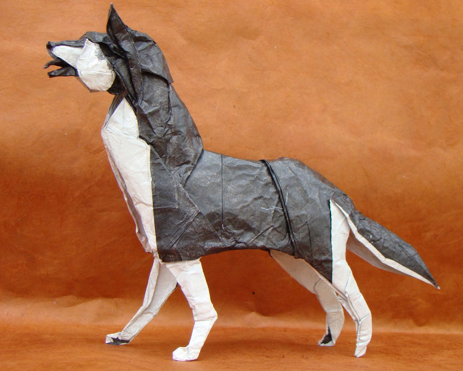 origami siberian husky dogs and kerry blues husky origami