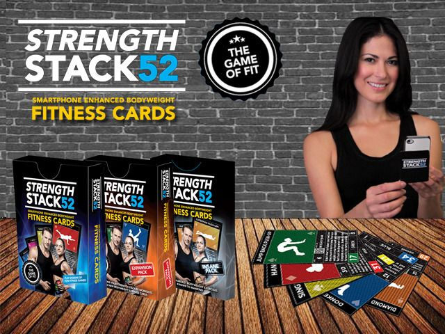 Strength Stack 52 Playing Cards- The Game of FIT by michael volkin — Kickstarter - very interesting use of a card game to promote health & wellness