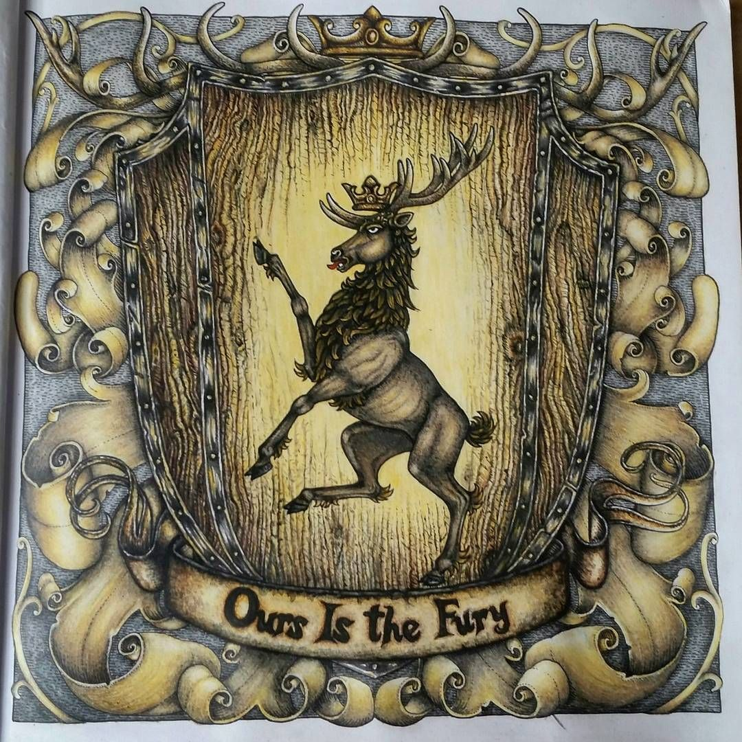Crowned Stag Sigil Of House Baratheon Ours Is The Fury Gameofthronescoloringbook Gameofthronescolouringbook Gotcoloringbook Oursisthefury