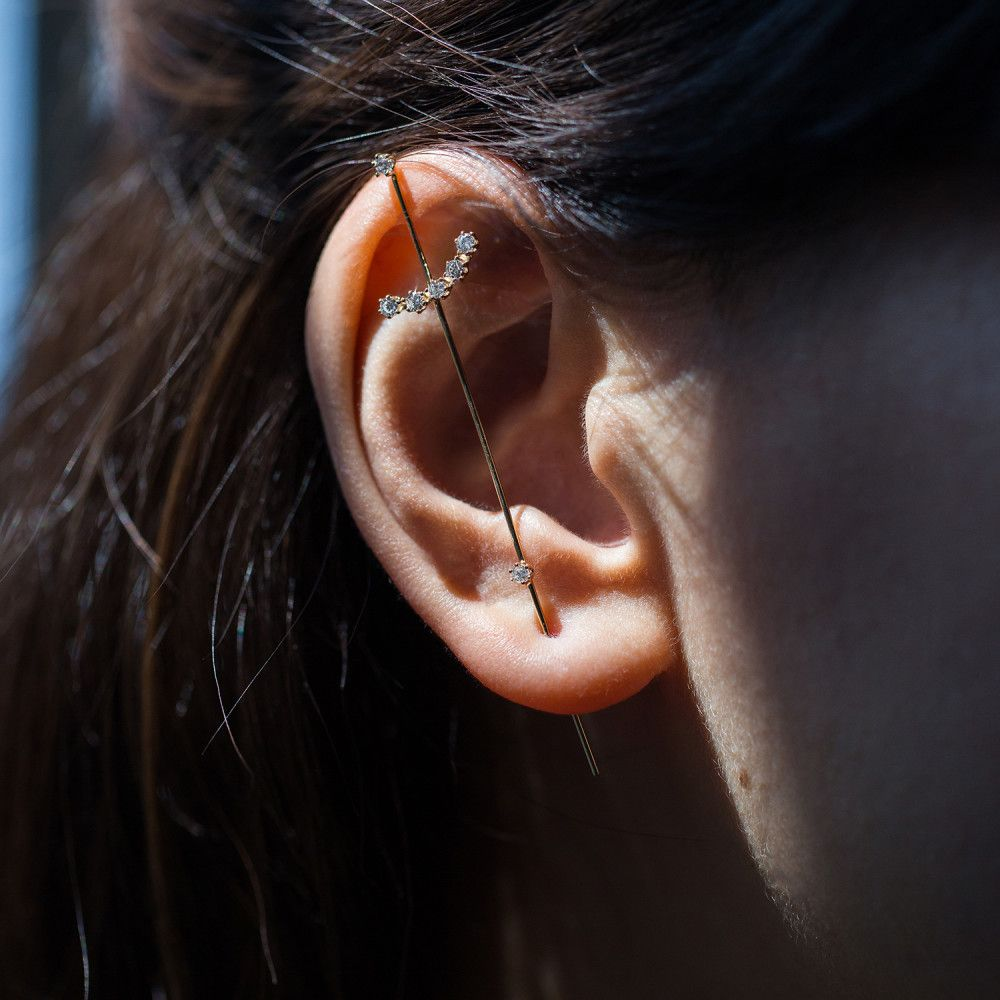 6ce486279 Jewelry – Blinging In Style. A sword like earring pierces through your ear  on the lobe, just plain cool.