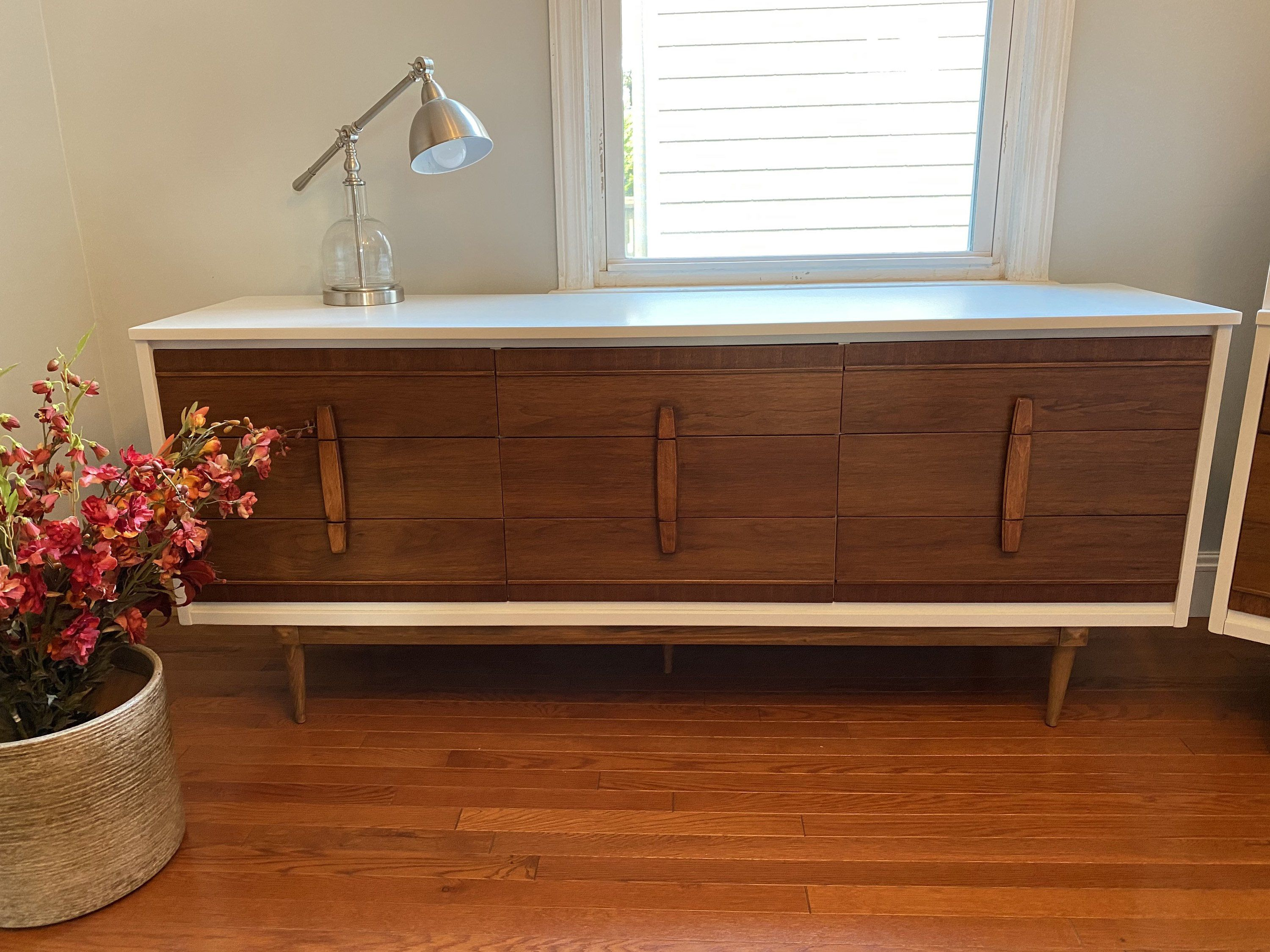Excited to share the latest addition to my #etsy shop: MCM long dresser #midcentury #furniture #mcm #midcenturymodern #antique