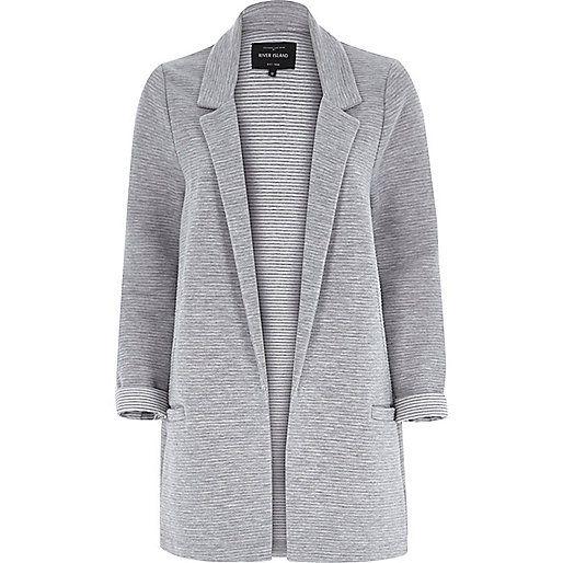 Light grey jersey jacket - jackets - coats / jackets - women