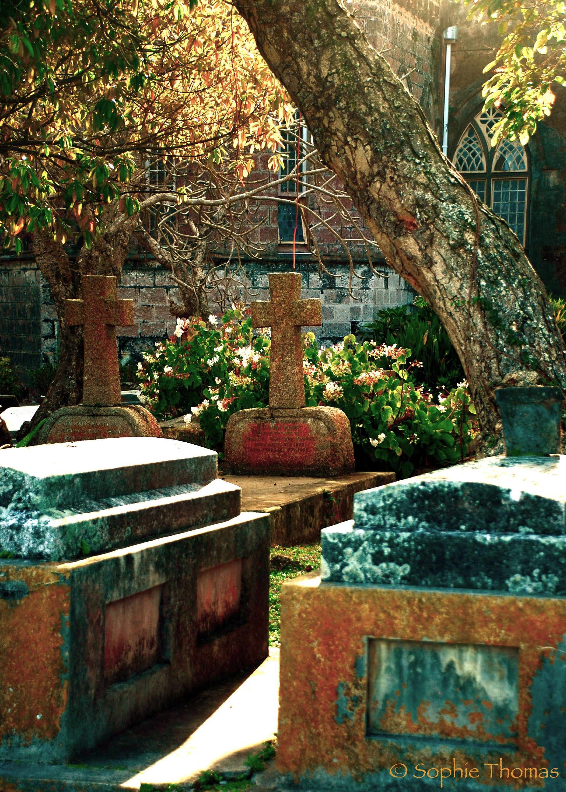 Light On Tombs - St. Johns Church - Barbados