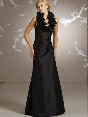 1000  images about Long black bridesmaid dresses on Pinterest ...