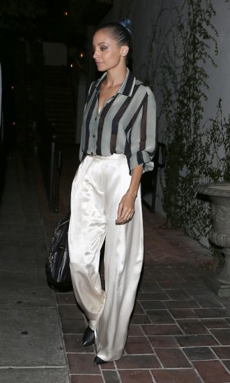 EXCLUSIVE: Nicole Richie leaves AOC restaurant in Beverly Hills, CA