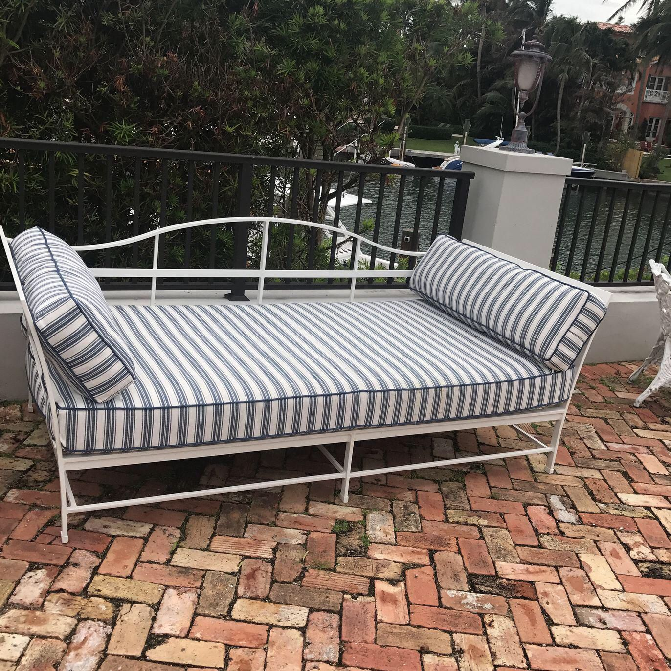 Cast Iron Sunbrella Upholstered Outdoor Daybed Outdoor 400 x 300