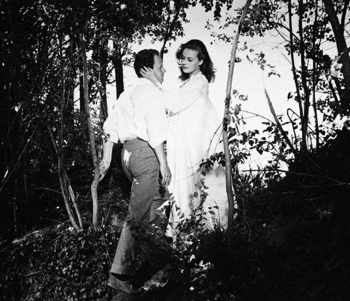 Jean-Marc Bory and Jeanne Moreau in Les amants, dir. Louis Malle