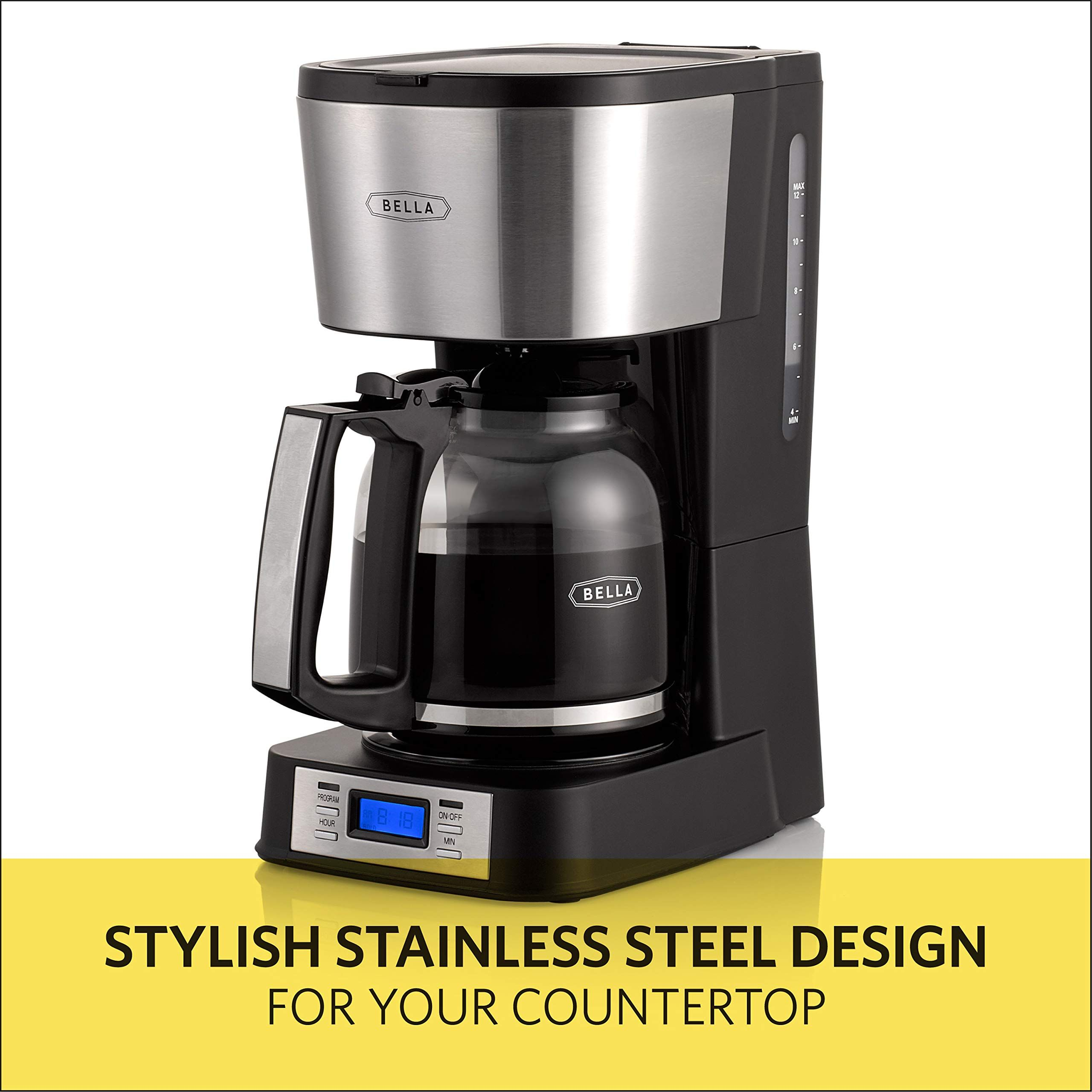 Bella 14755 Strength Selector Stainless In 2020 Coffee Maker Brewing Stainless