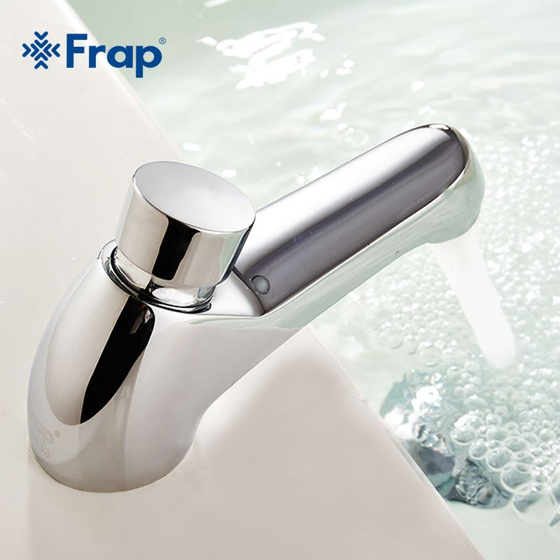Brass Time Delay 7 seconds Metered Faucet Public Toilet Touch Press ...