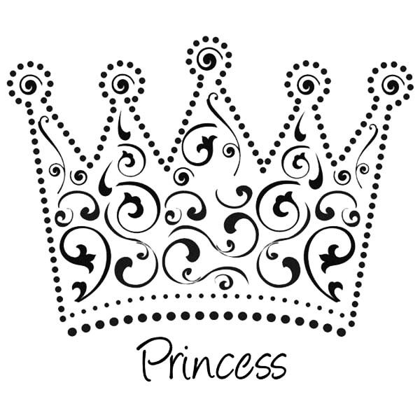 Beautiful Princess Crown Coloring Page Crown Template Princess