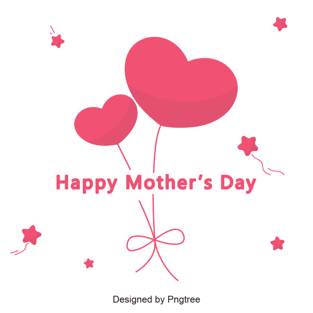 Happy Mother S Day With Ballons Happy Mother S Day Mommy Mom Png And Vector With Transparent Background For Free Download Mothers Day Card Template Happy Mothers Day Mother S Day Greeting Cards