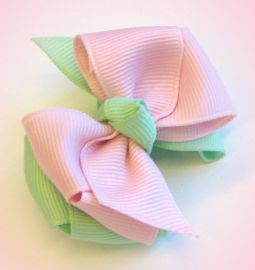Ribbon Recipe 2 Layer Basic Hair Bows Hip Girl Boutique Llc Free Hairbow Instructions Ribbons Hair Bows And Cl Boutique Hair Bows Hair Bows Diy Hair Bows