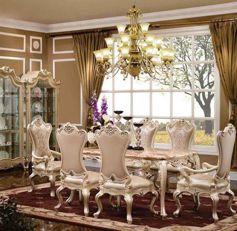 Fairhaven Dining Table Ruang Keluarga Mewah Set Ruang Makan