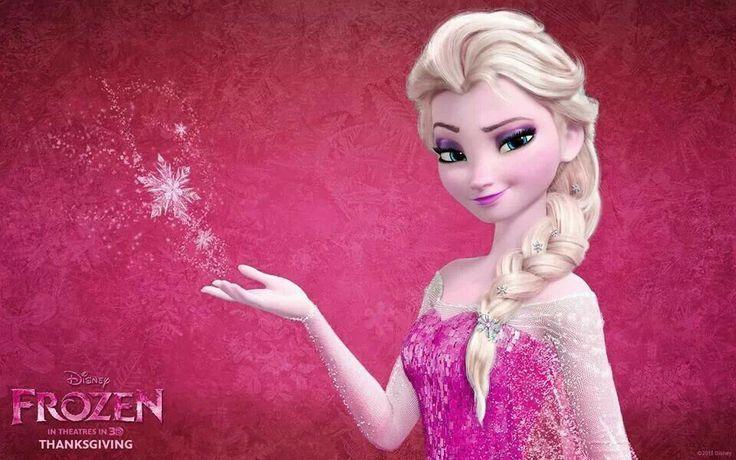 Pink Elsa Kartun