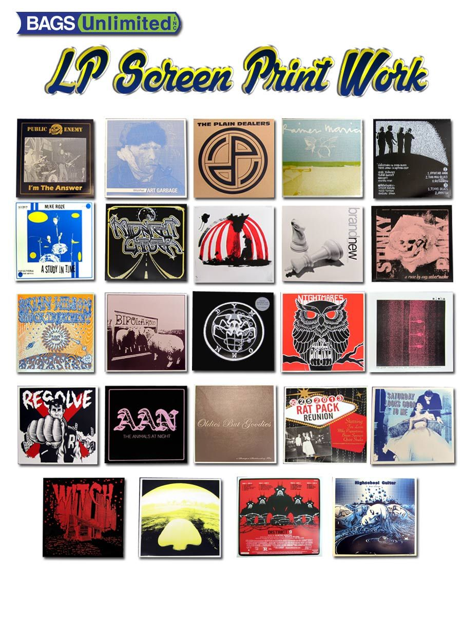 We Screen Print 12 Lp Record Jackets In As Few As Two Weeks Screen Printing Print Vinyl Records