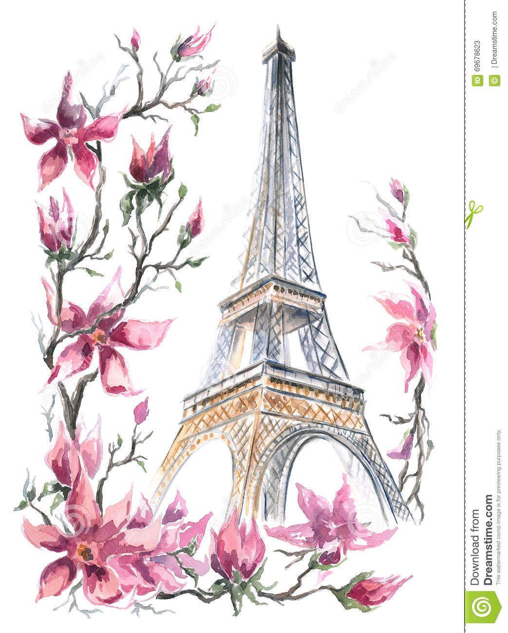 Картинки по запросу эйфелева башня рисунок акварелью ...