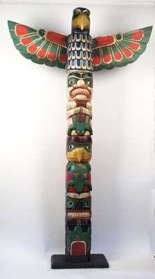65 Foot Northwest Coast Totem Pole
