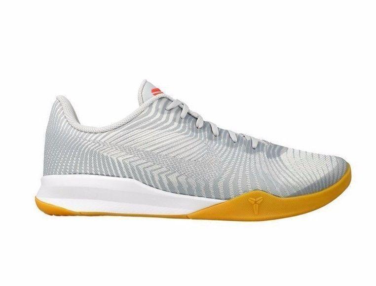 Nike KB Mentality II Mens Basketball Shoes 10 White Wolf
