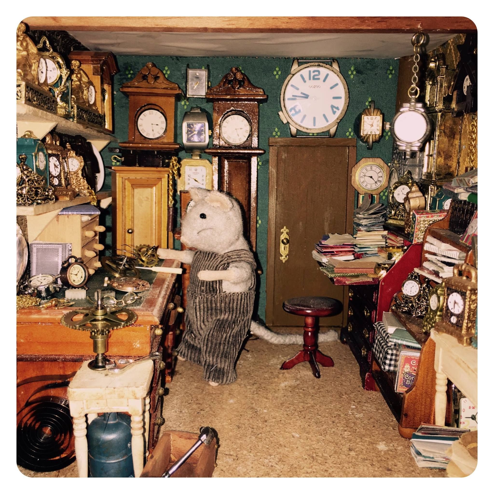 Miniatures   The Clock Maker   The Mouse Mansion Barbie Furniture, Tiny  Furniture, Dollhouse