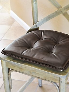 Gripper Chair Cushions Nonslip Chair Pads No Ties Solutions Chair Chair Cushions Faux Leather Chair
