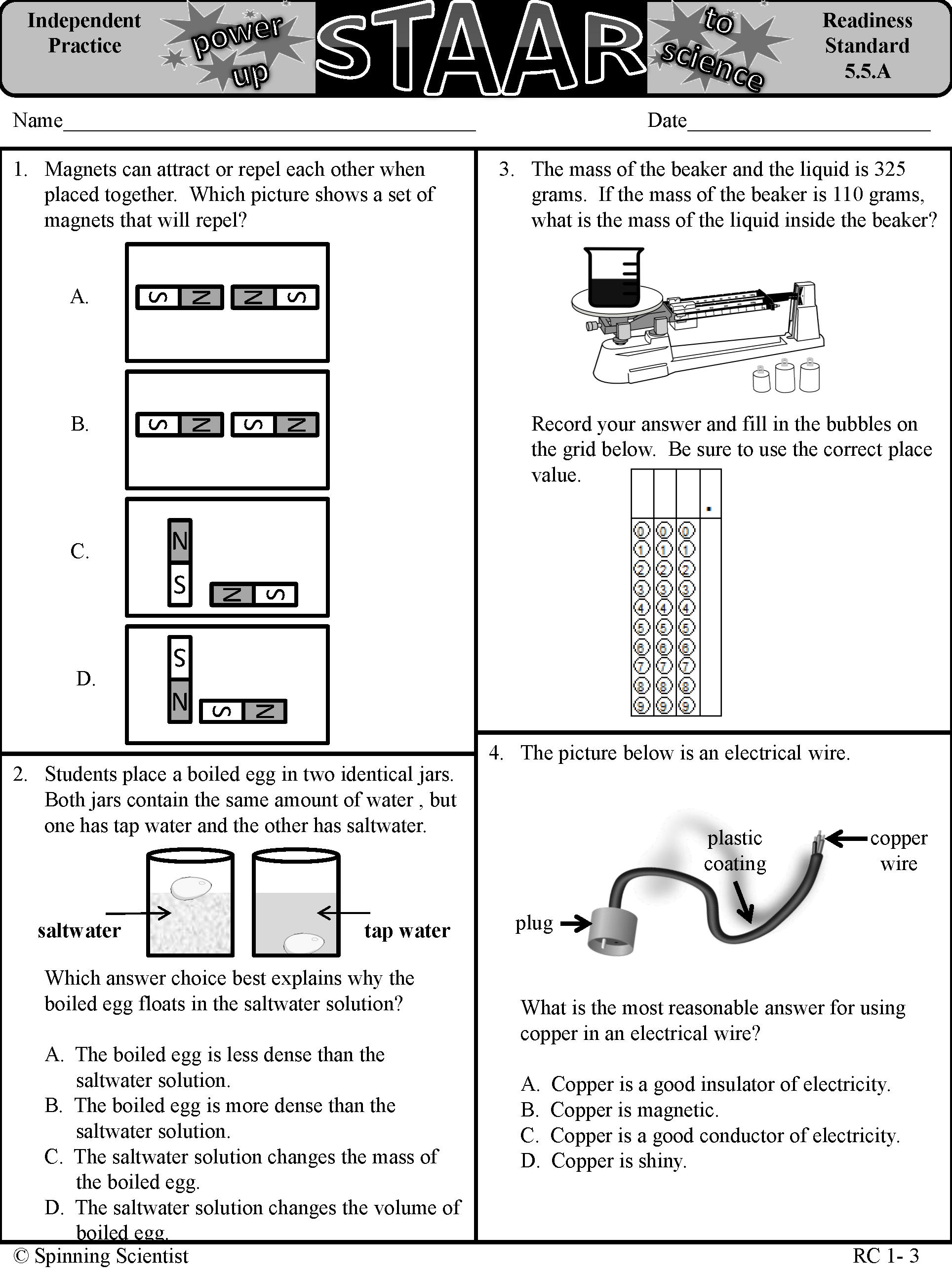 hight resolution of 5th grade Science STAAR practice!   Science staar