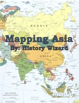 Map Of Asia For Students.Mapping Asia Lesson Plan Collection Geography Lesson Plans Asia
