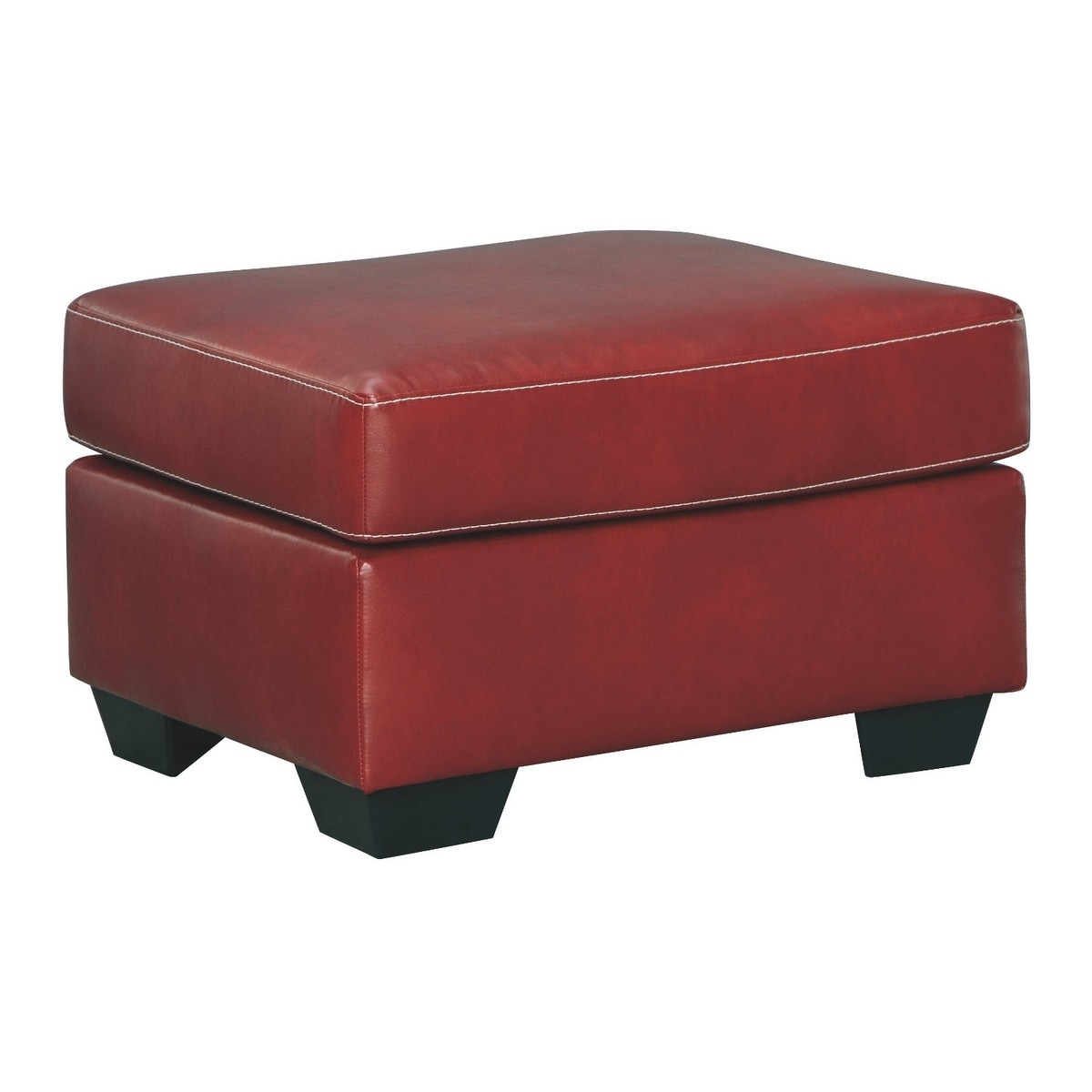 Best Signature Design By Ashley Betrillo Salsa Faux Leather Ottoman Red Polyester Blend In 2019 400 x 300