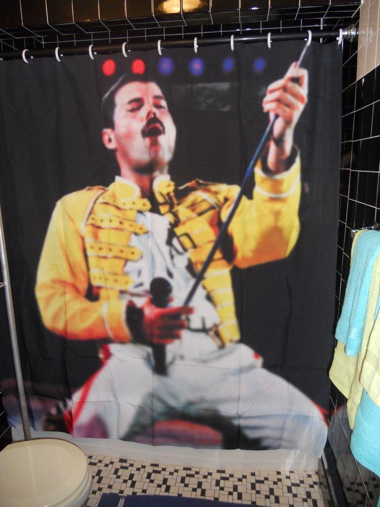 Freddie Mercury Queen Shower Curtain Rock 80 S Prototype Showroom Sample Sallyandmitch Yourchoice Freddie Mercury Curtains Mercury