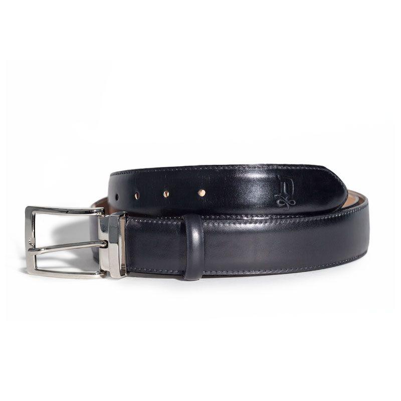 Onyx/Satin Silver Belt   DONUM Men's Footwear & Accessories