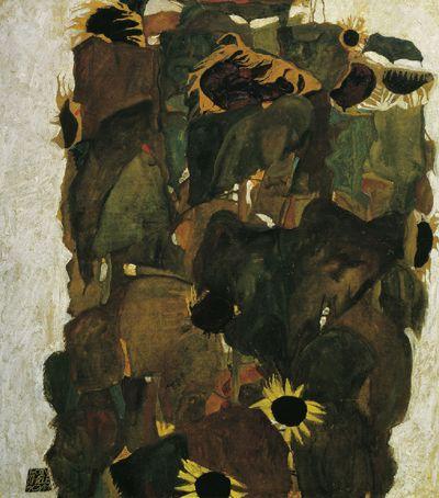 Egon Schiele, Sunflowers I, 1911   © © Belvedere, Vienna