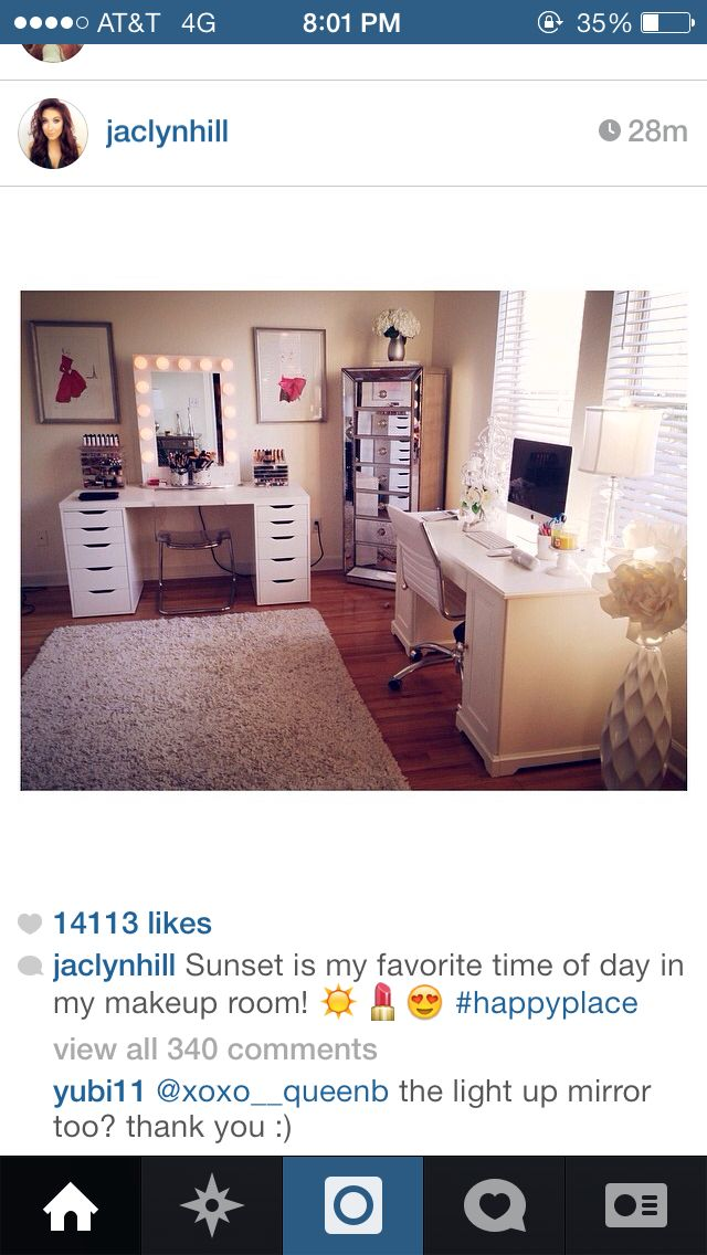 This Is Not Just Any Cute Room Vanity Makeup Jaclyn Hill S