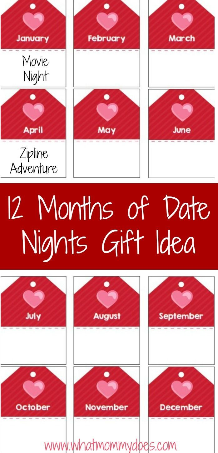 12 Months of Date Night Ideas with Your Husband (with free printable ...