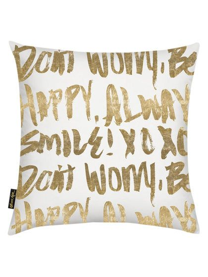 Let's Be Happy Pillow by Oliver Gal at Gilt