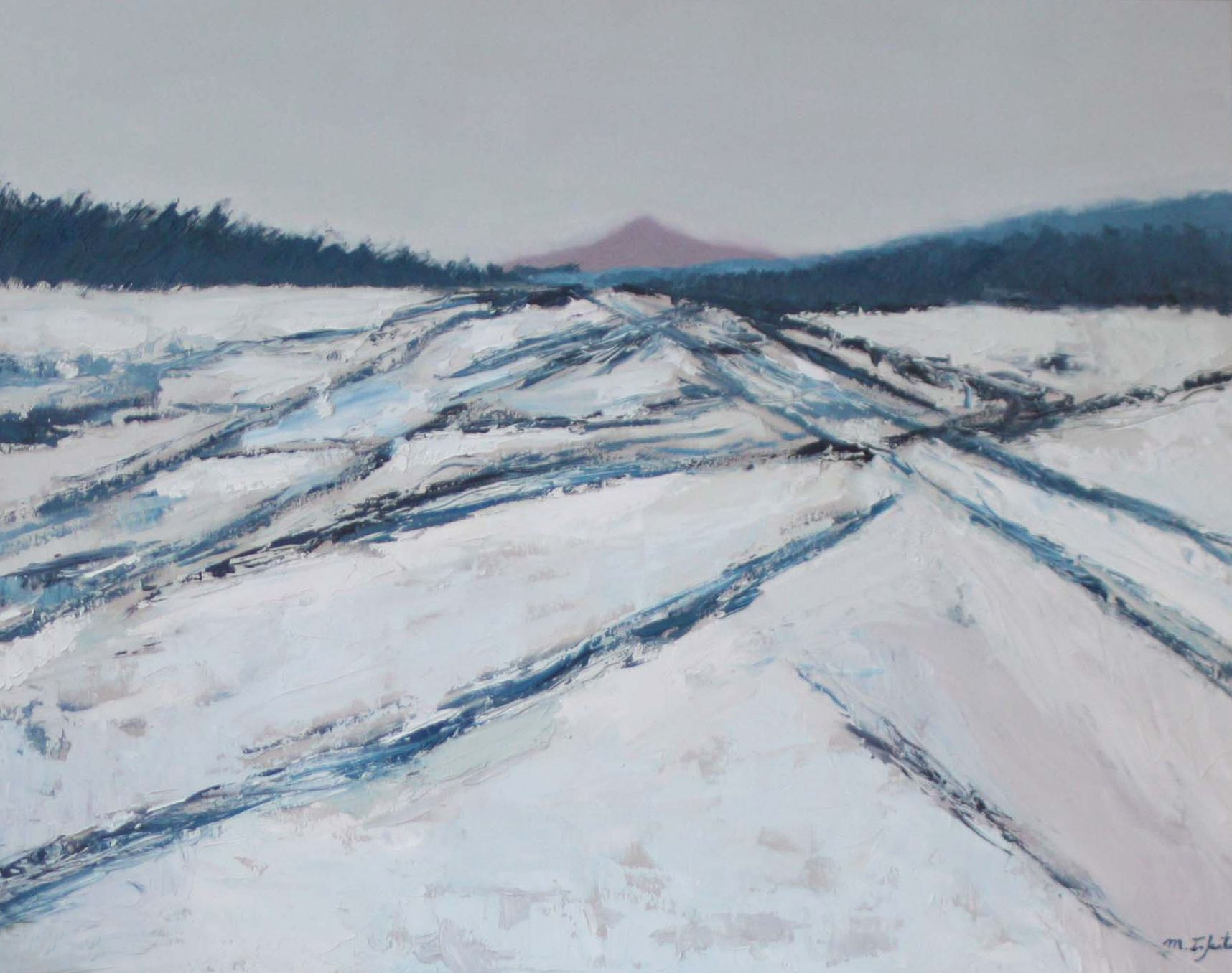Snowy Landscape Mountain Landscape Abstract Landscape Mountain Landscape Landscape
