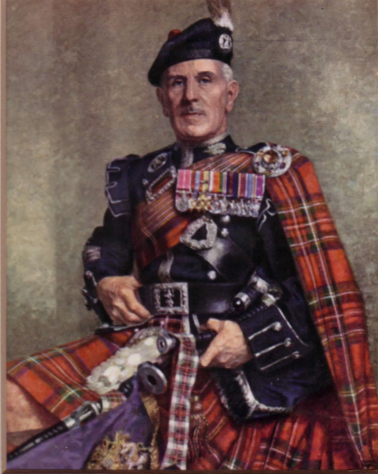 Pipe Major Alexander MacDonald of the 1st Battalion Scots Guards (1931 -  1945). He held the post of