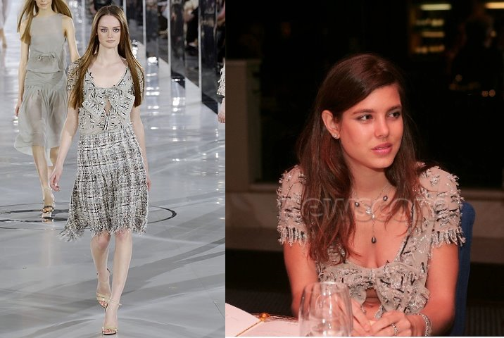 Charlotte Casiraghi at the 2005 Enthronement Dinner for her uncle Prince Albert II of Monaco. (Fall 2005).