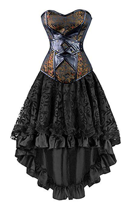 Mittelalter Korsett Schwarz Mittelalterkleid Corsage Korsage Gothic Steampunk