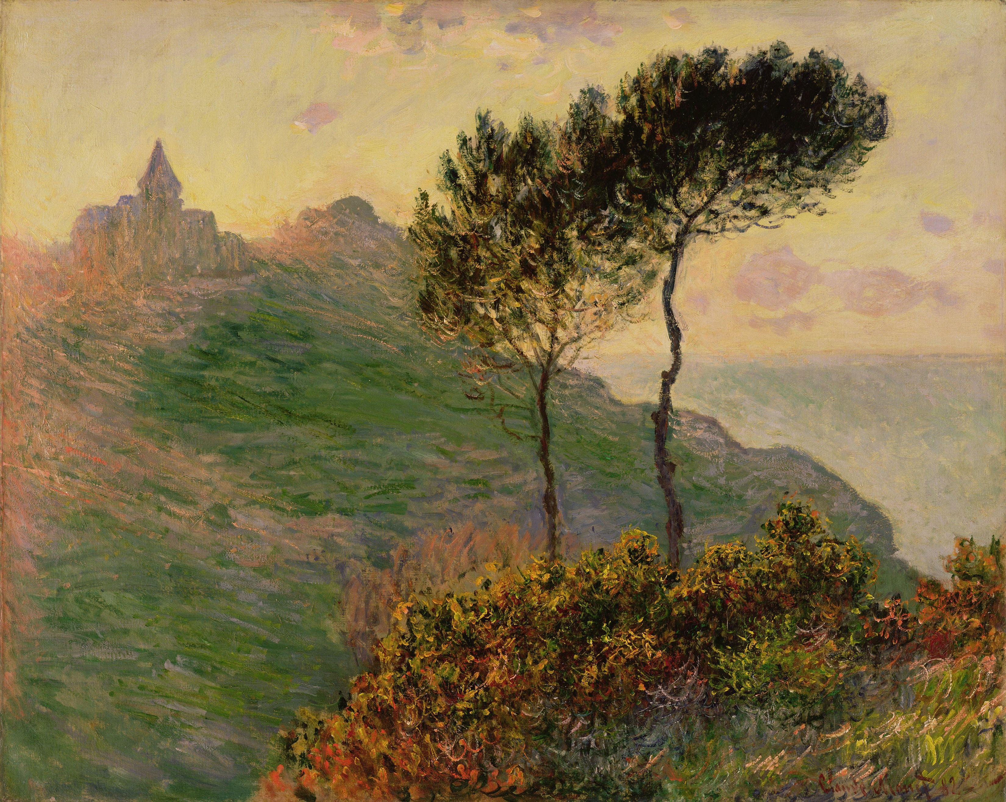 The Church at Varengeville, Claude Monet (1882) em 2020   Claude monet,  Pinturas impressionistas, Monet