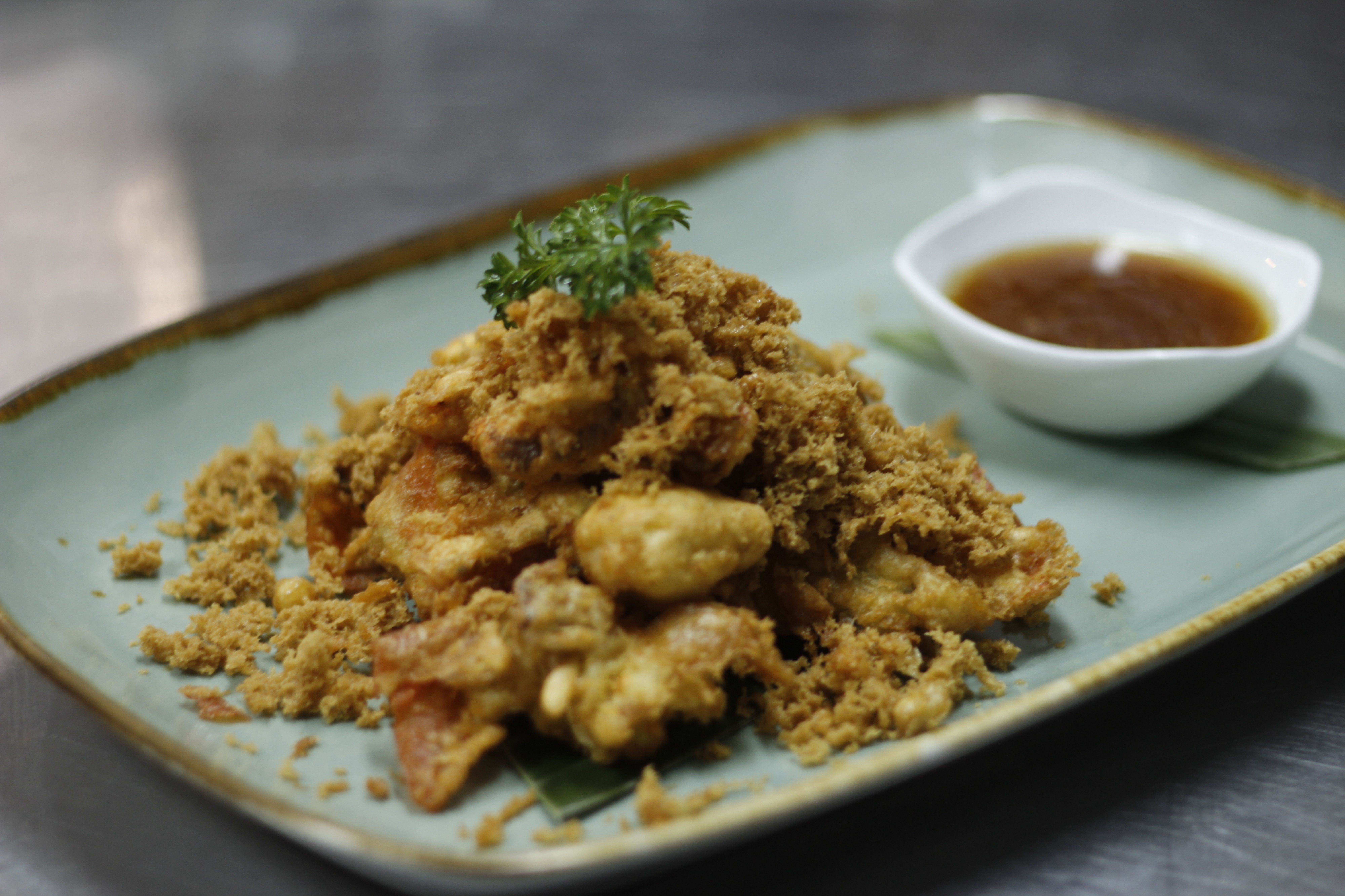 Kepiting Soka Goreng Saos Madu Jahe Fried Soft Shell Crab With Honey Ginger Sauce Kepiting Jahe Madu